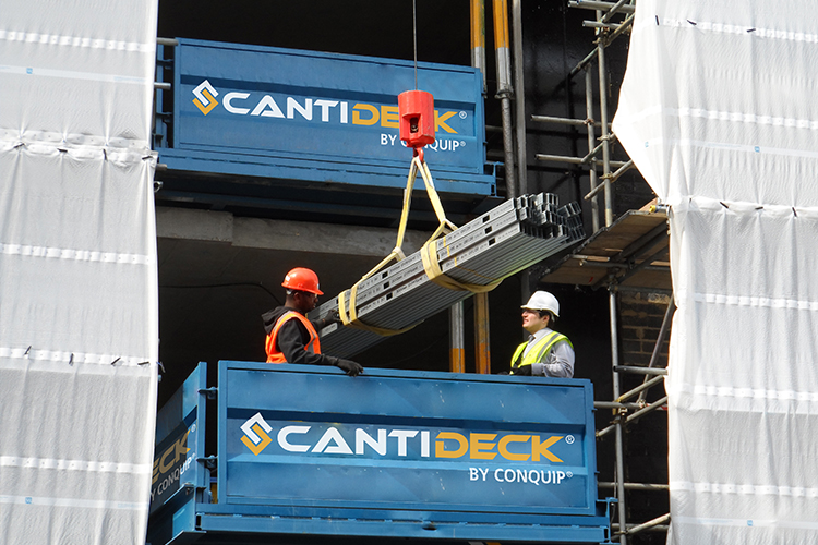 CantiDeck Super Roller stacked configuration