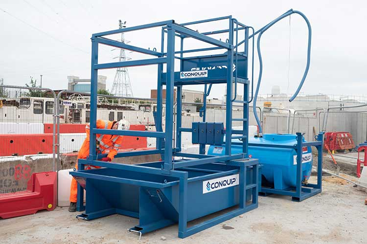 concrete skip washout system from conquip