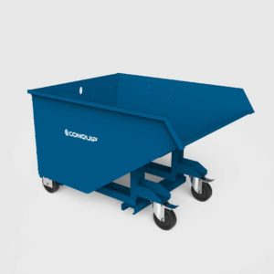 autolock self tipping skip with castors