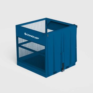 small goods cage with ramped access