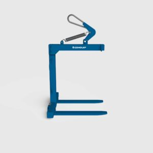 crane pallet forks attachment for lifting of pallets with a crane right side view