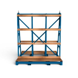 glass stillage, frame for crane lifting of glass sheets